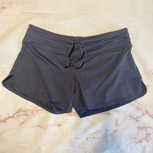 Athleta Grey Stretch Running Shorts-S